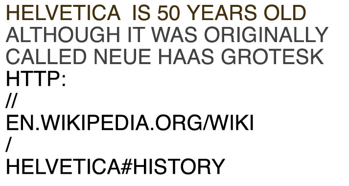 Helvetica is 50 years old